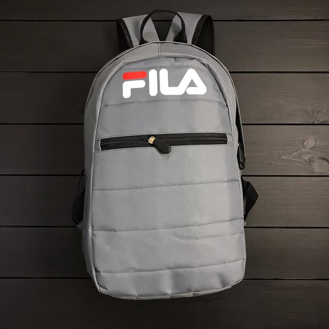 f88669795b4b Серый спортивный рюкзак Фила Fila (РЕПЛИКА) - Интернет-магазин