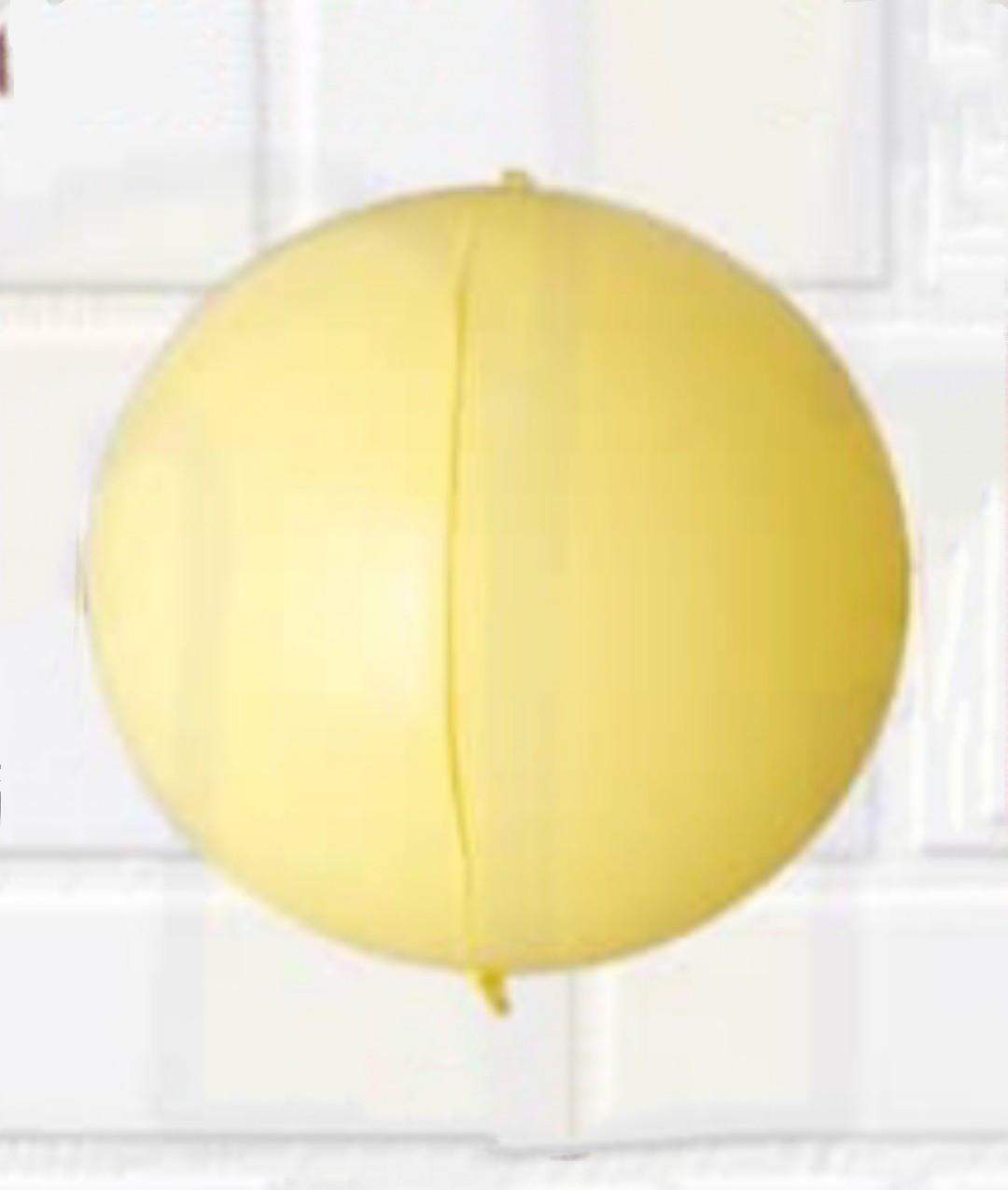 Фольгований куля сфера 3D, жовтий макаронів, 10 дюймів/25 див.