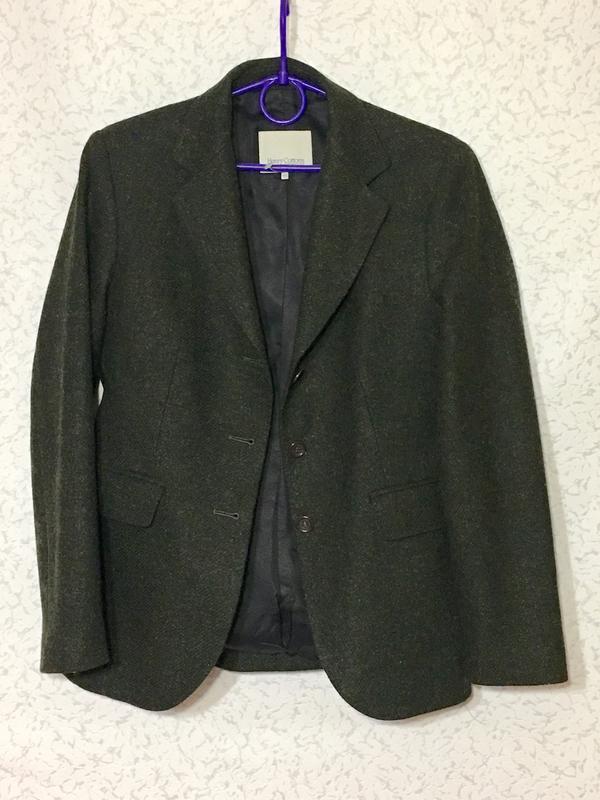 Шикарный шерстяной жакет шотландская шерсть