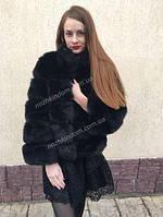 Женская черная шуба эко мех
