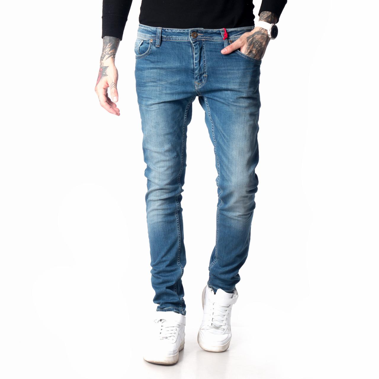 Зауженные джинсы мужские Franco Benussi 18-104 синие