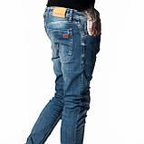 Зауженные джинсы мужские Franco Benussi 18-104 синие, фото 4