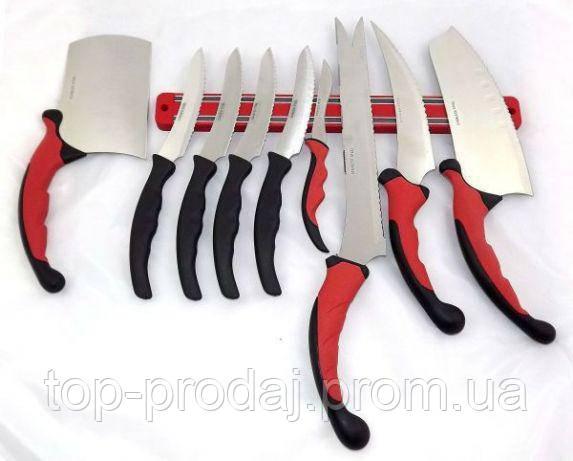 Набор ножей CONTOUR PRO, Набор кухонных ножей, Профессиональные ножи + магнитная рейка, Острые ножи