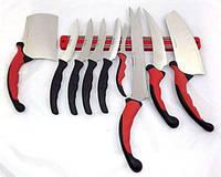 Набор ножей CONTOUR PRO, Набор кухонных ножей, Профессиональные ножи + магнитная рейка, Острые ножи, фото 1