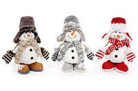 Мягкая новогодняя игрушка Снеговик 30см, 3 вида