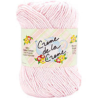 Пряжа для вязания 100% хлопок Creme de la Creme Yarn - Pale Pink