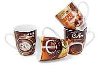 Кружка фарфоровая 350мл Coffee, 4 вида