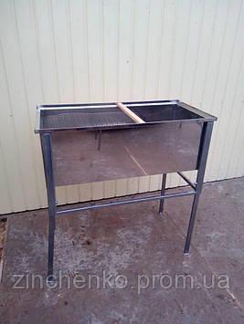 Стол для распечатки сотовых рамок 1м с решеткой на всю длину