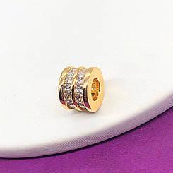Кулон Xuping Jewelry с камнями по кругу, медицинское золото, позолота 18К. А/В 2725