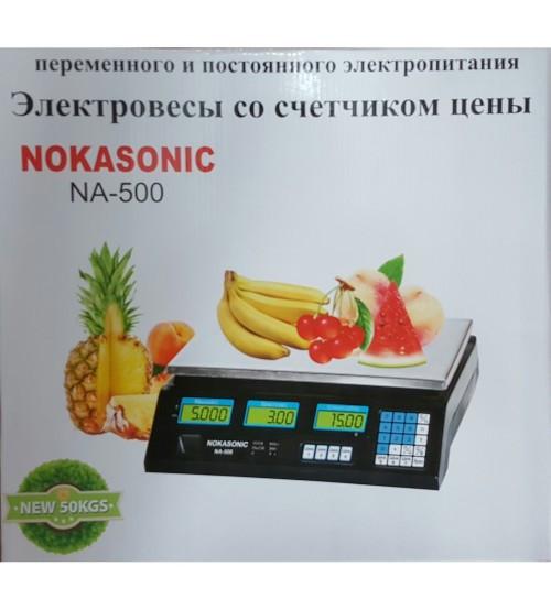 ЭЛЕКТРОННЫЕ ТОРГОВЫЕ ВЕСЫ NOKASONIC NF-500