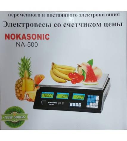 ЭЛЕКТРОННЫЕ ТОРГОВЫЕ ВЕСЫ NOKASONIC NF-500, фото 2