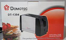 Тостер Domotec DT-1304 кухонная техника металлический корпус, фото 3
