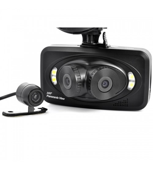 Автомобильный видеорегистратор Panoramic View 360 DVR H-6000
