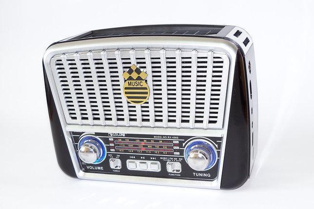 Радіоприймач GOLON RX-455S FM/AM/SW, MP3 USB microSD(TF), LED ліхтарик, Solar