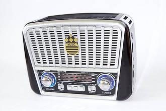 Радиоприемник GOLON RX-455S FM/AM/SW, MP3 USB microSD(TF), LED фонарик, Solar