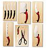 Набор кухонных ножей Контр Про Contour Pro Knives + магнитная рейка, фото 5