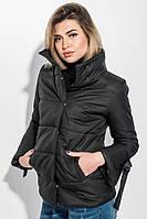 Куртка женская с бантиками на рукавах 72PD201 (Черный)