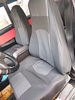 Чехлы сидений Ваз 2104,2105,2107 с серыми вставками