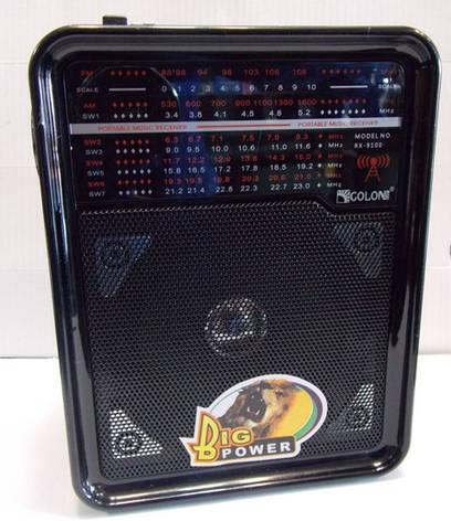 Радиоприемник Golon RX-9100 c фонариком mp3 usb fm sd, фото 2