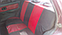 Чехлы сидений Ваз 2113, 2114, 2115 с красными вставками, фото 2