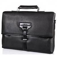 Мужской кожаный портфель на одной ручке NN S-NN14687 черный