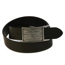 Ремни мужские Levi's Large Buckle leather belt BLACK