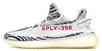 Женские кроссовки Adidas Yeezy Boost 350 v2 Zebra (адидас изи буст 350, серые)