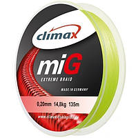 Climax Mig Braid NG 100 м Fluo-Yellow 0,10 мм 6,5 кг