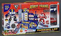 """Гараж ZY 647 """"Robot Trains"""" (2 машины, лифт)"""