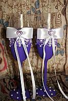 Свадебные бокалы ручной работы , фото 1