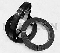 Лента 16х0,5 стальная упаковочная лакированная черный лак