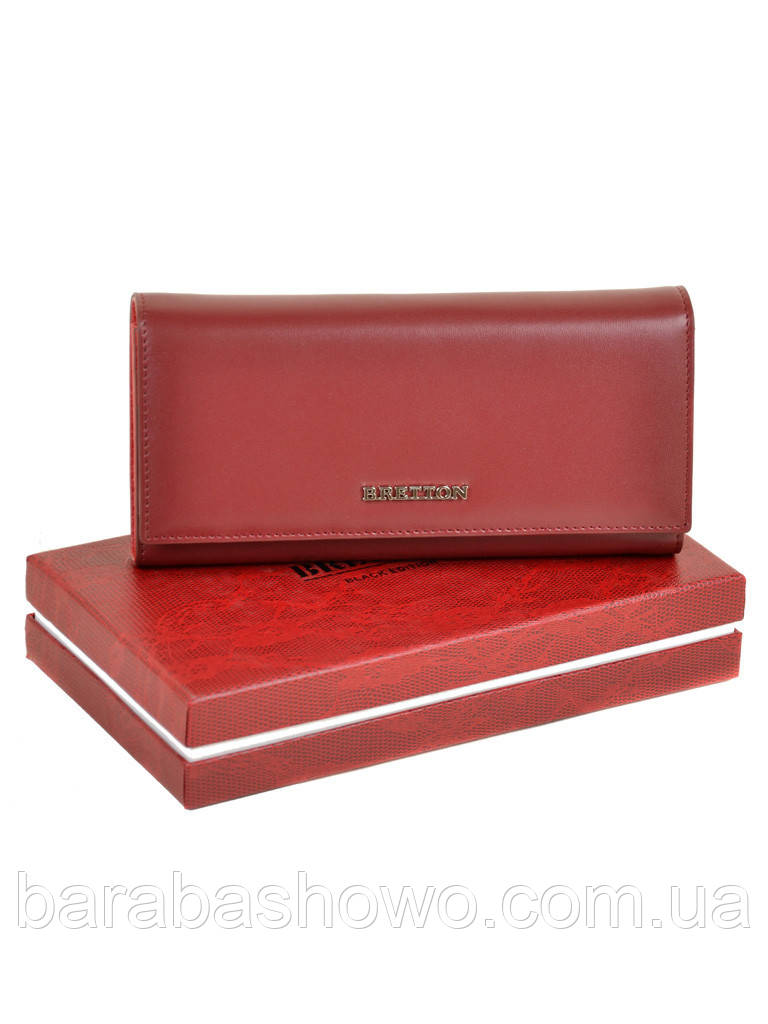 Кошелек Color женский кожаный BRETTON W7232 d-red