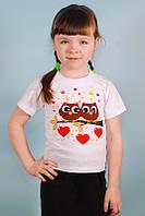 Детская белая футболка с рисунками