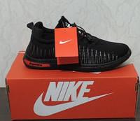 Кроссовки Nike (Найк). Мужские черные кроссовки Nike Fluknit Supreme. Лицензионная копия