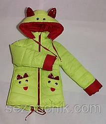 Курточки яркие весенние на девочек с пайетками