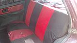 Чехлы сидений Таврия, Славута с красными вставками, фото 2