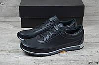 Мужские кожаные кроссовки Polo (Реплика) (Код: 1006чер   ) ►Размеры [44], фото 1