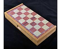 Игровой набор 3в1 нарды шахматы и шашки (39х39 см) Гранд Презент 409