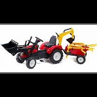 Трактор на педалях с прицепом и двумя ковшами Falk 2051CN RANCH