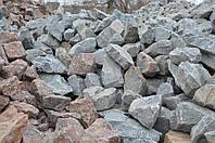 Бутовый камень серо - розовый калиброванный