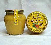 Крем-мед з обліпихою, 0,55л, збитий мед, кремований мед