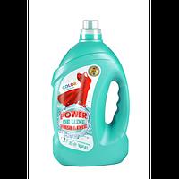 Гель для прання POWER DE LUXE для кольорової білизни 100 прань (4л.)