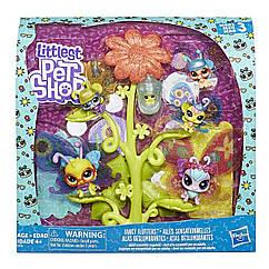 Лител пет шоп Садовые жители их домик бабочки Оригинал Hasbro Littlest Pet Shop Fancy Flut Литлес лпс лпш  LPS