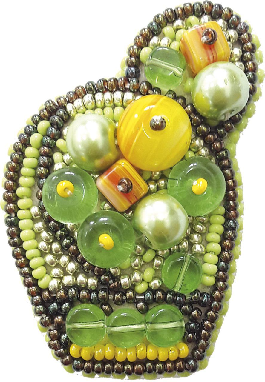 Набор для изготовления броши Яркий кактус
