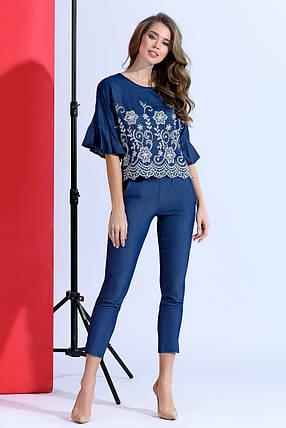 Джинсовая блуза с воланами, фото 2