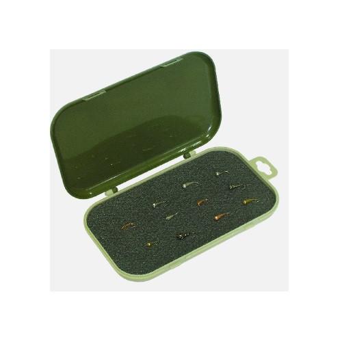 Коробка рыболовная с мягким вкладышем 17*10.5*2см