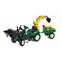 Трактор педальный с прицепом и двумя ковшами Falk 2052CN Ranch