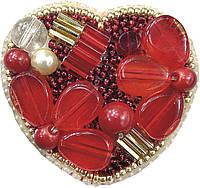 Набор для изготовления броши Сердце