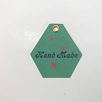 Картонная бирка hand made