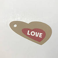 Картонная бирка LOVE